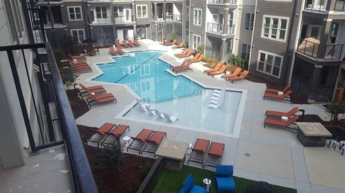 Commercial Pool Deck Creative Concrete Atlanta Ga Multi-Family Sundek