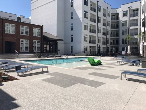 Pool Deck Brookstone Stockyards, Nashville Tn Multi-Family Sundek