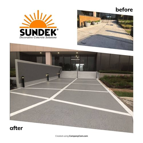 Classic Custom Scored Tile Pattern Office & Business Parks Sundek