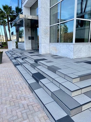 Custom Random Tile Stairs Orlando Fl Office & Business Parks Sundek