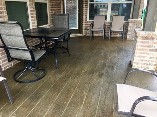 Tuscan Wood Plank Pattern Patios & Outdoor living Sundek