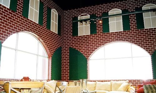 Classic Texture Running Bond Brick On Interior Commercial Wall Vertical Applications Sundek