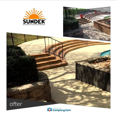 Before And After Walkways & Stairs  Sundek