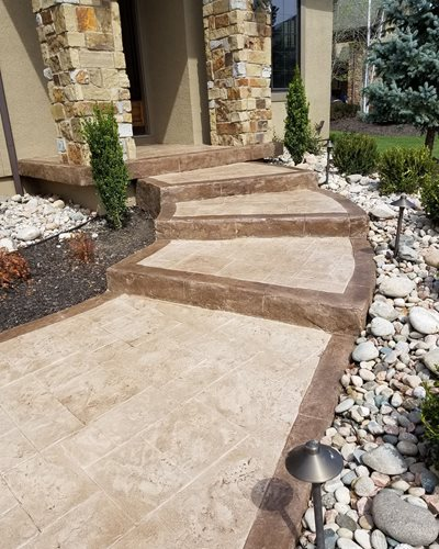Sunstamp Integral Color And H2o Stains Walkways & Stairs  Sundek