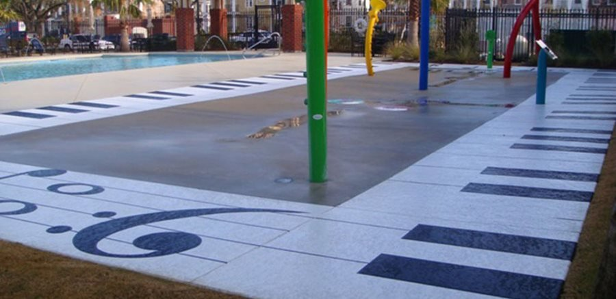 Splash-Pad-New-Orleans, La Test Sundek
