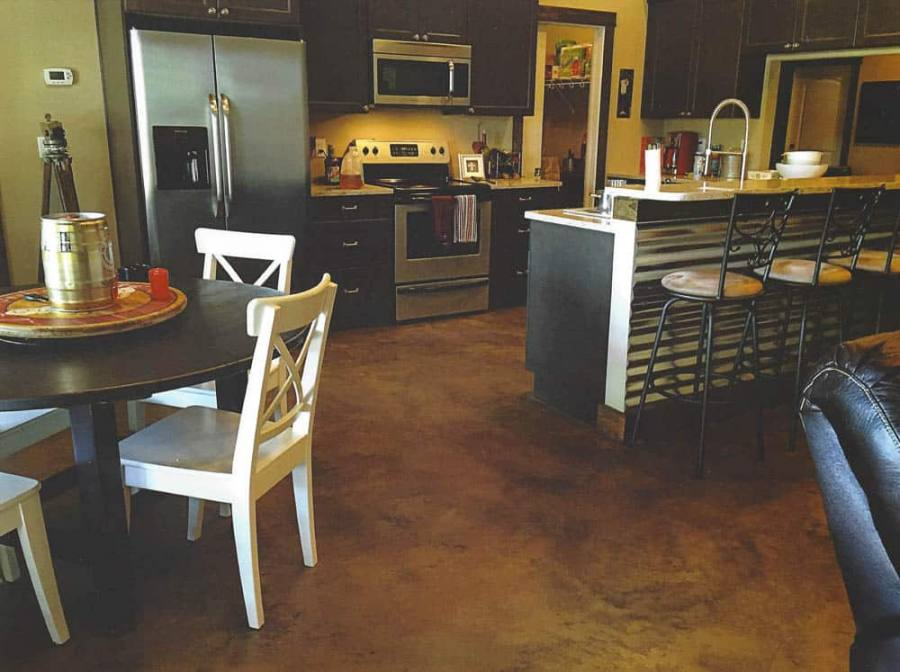 Kitchen Concrete Floor