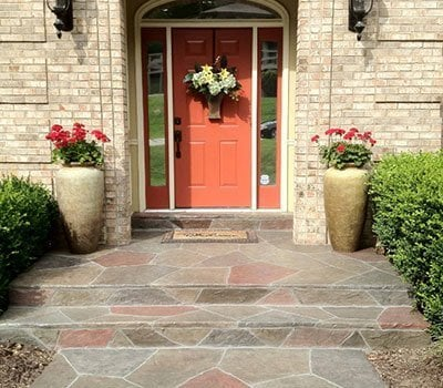 Stamped Overlay Entryway