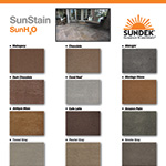 #671 Sun H2O water base stain color chart