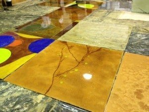 Stained Concrete Designs with Sundek