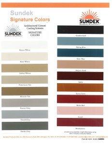 Signature Color Chart