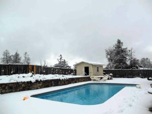 Pool deck winter