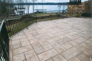 Tile pattern concrete overlay