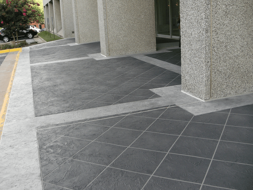 What are decorative concrete coatings and how are they for Concrete floor covering