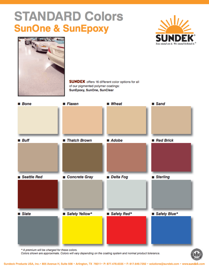 Sunone Amp Sunepoxy Sundek Concrete Coatings And Concrete